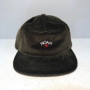 NOAH NY Embroidered Logo Corduroy Hat Green
